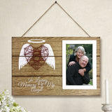 "4""x6"" Photo Frame in Memory of Loved One, Wood Picture Frame Sympathy Gift"