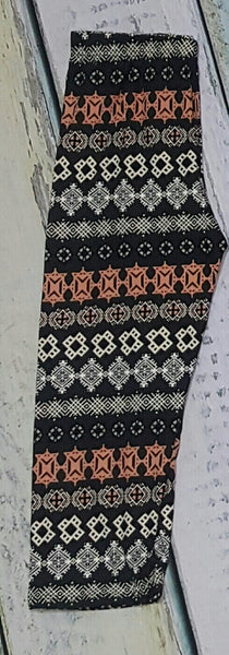 Soft pattern crop and full length leggings