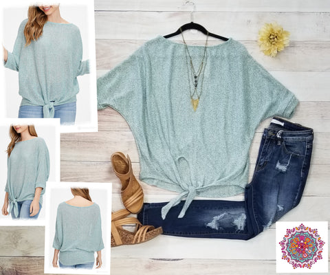 Dolman lightweight sweater knit top