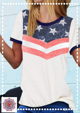 4th of July ringer tee