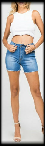 Bazi 4 in. denim shorts