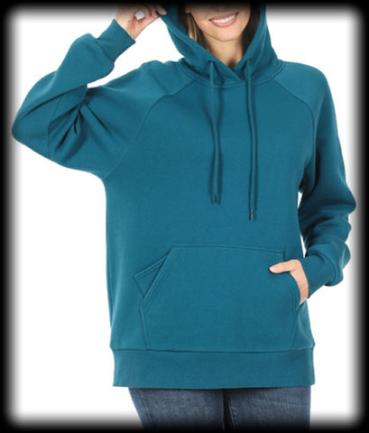 Hoodie with cell phone pocket