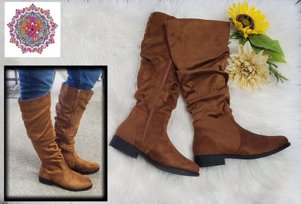 Maple tall slouch boots