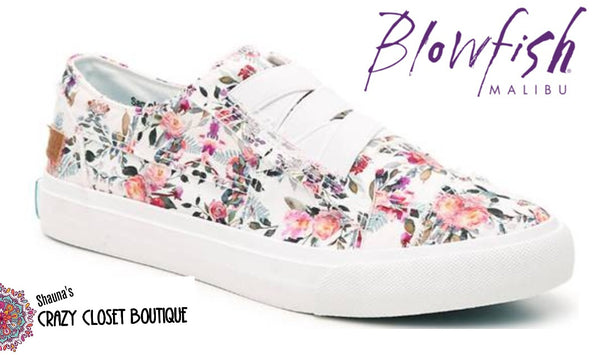 Blowfish floral pull on sneakers