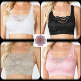 Seamless lace front bralette