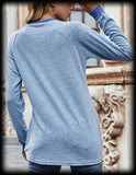 Long sleeve pocket top