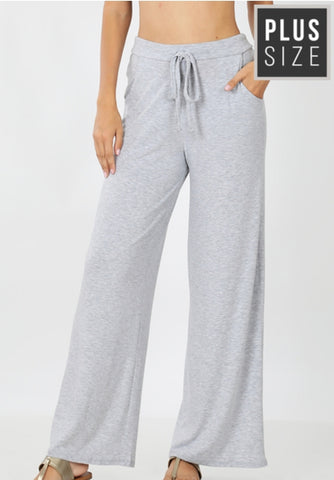 Plus wide leg lounge pants
