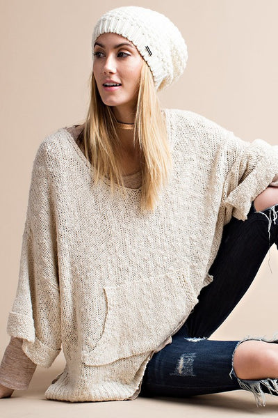 Slouchy pull over sweater