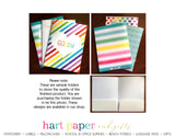 Rainbow Volleyball Ball Personalized 2-Pocket Folder School & Office Supplies - Everything Nice