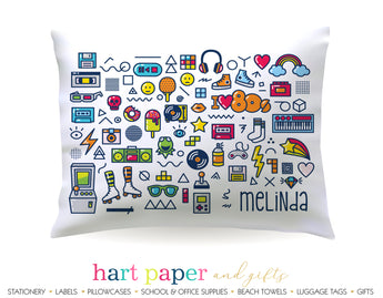 I Love the 80's Retro Personalized Pillowcase Pillowcases - Everything Nice