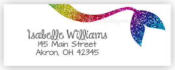 Rainbow Mermaid Tail Address Labels • Self Adhesive Stickers Return Address Labels - Everything Nice