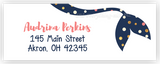 Polka Dot Mermaid Tail Address Labels • Self Adhesive Stickers