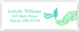 Mermaid Tail b Address Labels • Self Adhesive Stickers Return Address Labels - Everything Nice