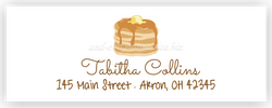 Pancakes Return Address Labels • Self Adhesive Stickers
