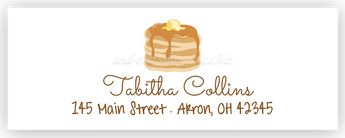 Pancakes Return Address Labels • Self Adhesive Stickers Return Address Labels - Everything Nice