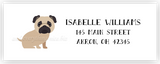 Pug Dog Return Address Labels • Self Adhesive Stickers