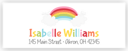 Rainbow II Address Labels • Self Adhesive Stickers