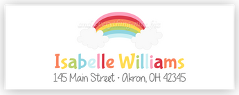 Rainbow II Address Labels • Self Adhesive Stickers Return Address Labels - Everything Nice
