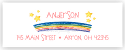 Rainbow Address Labels • Self Adhesive Stickers