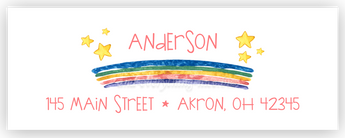 Rainbow Address Labels • Self Adhesive Stickers Return Address Labels - Everything Nice
