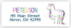 Unicorn e Address Labels • Self Adhesive Stickers