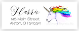 Rainbow Unicorn c Address Labels • Self Adhesive Stickers Return Address Labels - Everything Nice