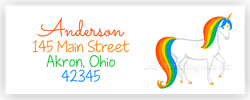 Rainbow Unicorn Address Labels • Self Adhesive Stickers