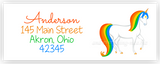 Rainbow Unicorn Address Labels • Self Adhesive Stickers Return Address Labels - Everything Nice