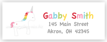 Rainbow Unicorn II Address Labels • Self Adhesive Stickers Return Address Labels - Everything Nice