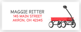 Red Wagon Address Labels • Self Adhesive Stickers Return Address Labels - Everything Nice