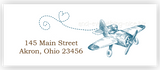 Vintage Airplane Return Address Labels • Self Adhesive Stickers
