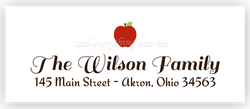 Red Apple Return Address Labels • Self Adhesive Stickers