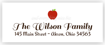 Red Apple Return Address Labels • Self Adhesive Stickers Return Address Labels - Everything Nice
