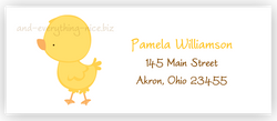 Chick Duck Return Address Labels • Self Adhesive Stickers