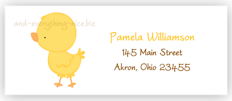 Chick Duck Return Address Labels • Self Adhesive Stickers Return Address Labels - Everything Nice