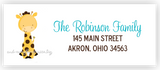 Polka Dot Giraffe Return Address Labels • Self Adhesive Stickers Return Address Labels - Everything Nice