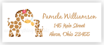 Giraffe Return Address Labels • Self Adhesive Stickers Return Address Labels - Everything Nice