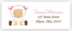 Baby Lamb Sheep Return Address Labels • Self Adhesive Stickers