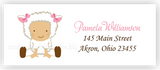 Baby Lamb Sheep Return Address Labels • Self Adhesive Stickers Return Address Labels - Everything Nice