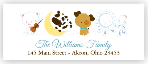 Nursery Rhyme Return Address Labels • Self Adhesive Stickers Return Address Labels - Everything Nice