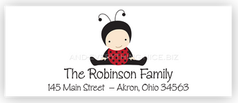 Baby Ladybug Return Address Labels • Self Adhesive Stickers Return Address Labels - Everything Nice