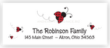 Ladybug Return Address Labels • Self Adhesive Stickers Return Address Labels - Everything Nice