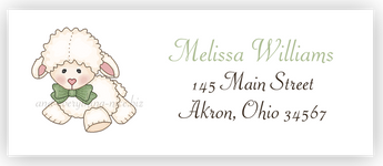 Little Lamb Sheep Return Address Labels • Self Adhesive Stickers Return Address Labels - Everything Nice