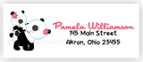 Panda Bear Return Address Labels • Self Adhesive Stickers