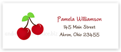 Cherries Return Address Labels • Self Adhesive Stickers