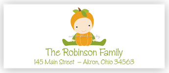 Pumpkin Baby Return Address Labels • Self Adhesive Stickers Return Address Labels - Everything Nice