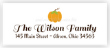Pumpkin Return Address Labels • Self Adhesive Stickers
