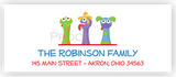 Puppet Show Return Address Labels • Self Adhesive Stickers Return Address Labels - Everything Nice