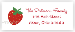 Strawberry d Return Address Labels • Self Adhesive Stickers