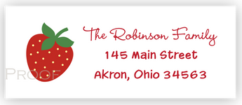 Strawberry d Return Address Labels • Self Adhesive Stickers Return Address Labels - Everything Nice